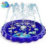 "Sprinkler Splash Pad Play Mat Large 67"" Inflatable Spinkler Pad Wading Pool Outdoor Space Learning Water Pad for Big Kids Adu"