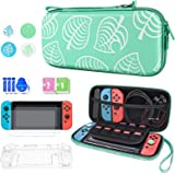 DLseego Nintendo Switch対応 あつまれどうぶつの森 バッグセット(収納バッグ*1+PCカバー + Joy-ConTPUカバー+ガラスフィルム*2 +スティックカバー*4)かわいい 保護ケース 小物収納バッグ 大容量 耐衝撃 キズ