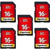 Gigastone 16GB 5枚セット SDカード UHS-I U1 Class 10 SDHC メモリーカード 高速…