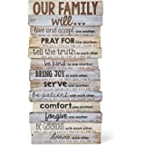 Lighthouse Christian Products Our Family Will Wall/Desktop Plaque, 5 x 10