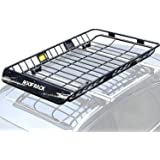 "Leader Accessories Upgraded Roof Rack with 150 LB Capacity Extension 64""x 39""x 5' Car Top Luggage Holder Carrier Basket Fit f"