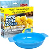 Rapid Egg Cooker | Microwave Scrambled Eggs & Omelettes in 2 Minutes | Perfect for Dorm, Small Kitchen, or Office | Dishwashe