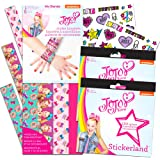 Jojo Siwa Party Favors Bracelets and Stickers Set -- 8 Jojo Siwa Wristbands with Decorations,12 Sticker Sheets and 32 Tempora