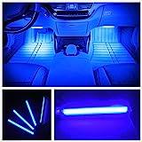 EJ's SUPER CAR カー内部LED装飾ライト シングルカラーモード 36ランプビーズ 高輝度 車内フロア ライト イルミネーション 車内 ネオンシガーソケット(ブルー)