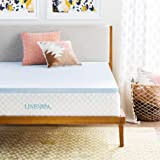 Linenspa 2 and 3 Inch Gel Infused Memory Foam Mattress Topper, Twin XL