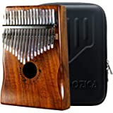 Moozica 17 Keys Kalimba Marimba, Professional Thumb Piano Sanza Mbira Musical Instrument Gift (Koa - K17K)