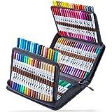 120 Colors Art Markers Set, Ohuhu Dual Tips Coloring Brush Fineliner Color Marker Pens, Water Based Marker for Calligraphy Dr