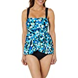 Maxine Of Hollywood Women's Drape Front One Piece Swimsuit