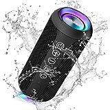 Ortizan Bluetooth スピーカー 防水IPX7でワイヤレス 30時間連続再生 24W出力ぶるーとぅーすすぴーかー ステレオのポータブルブルートゥーススピーカー マイク内蔵/2台ペアリング/TFカード対応 お風呂 スマホ PC 車用 (ブ