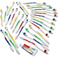 200 Toothbrushes Bulk Wholesale Quantity Standard Size, Dental Care Toiletries, Medium Soft Bristles, Individually Wrapped, H