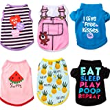 SATINIOR Pet Shirts Printed Puppy Shirt Summer Dog Cool Vest Cute Dog Clothing Cotton Dog Pullover Soft Sweatshirt for Small