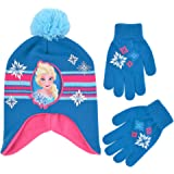 Disney Winter Hat, Kids Gloves Or Toddlers Mittens, Frozen Elsa and Anna Baby Beanie for Boy GirlAges 4-7