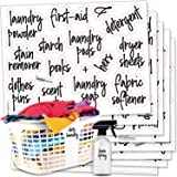 Talented Kitchen 141 Laundry Room & Linen Closet Organization Labels. Script, Printed Stickers. Clear, Water Resistant, Canis