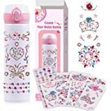 Decorate & Personalize Your Own Water Bottle with 8 Sheets Gem Stickers, DIY Art Kit and Craft Kit for Girls Age 6-12 , DIY W