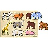 ボーネルンドオリジナル ピックアップパズル 動物園 [8ピース] 対象年齢 2歳