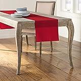 LA Linen Polyester Poplin Table Runner, 14 by 108-Inch, Red