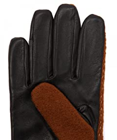 Sheep Leather Wool Glove 1437-699-1045: Brown