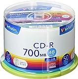 バーベイタムジャパン 三菱ケミカルメディア Verbatim 1回記録用 CD-R SR80FC50V1 (48倍速/50枚) シルバー