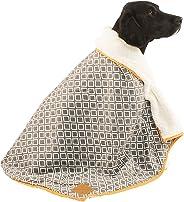 MOG & BONE Plush Blanket Grey Ikat Print
