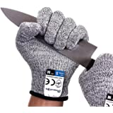 Dowellife Cut Resistant Gloves Food Grade Level 5 Protection, Safety Kitchen Cuts Gloves for Oyster Shucking, Fish Fillet Pro