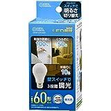 オーム電機 LED電球(60形相当/890lm/昼光色/E26/全方向270°/密閉形器具対応/調光機能付) LDA7D-G/D AG93