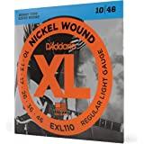 (Regular Light, Single Set) - D'Addario EXL110 Nickel Wound Electric Guitar Strings, Regular Light, 10-46