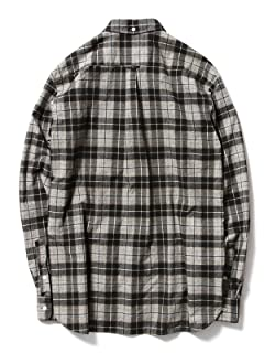 Print Check Buttondown Shirt 11-11-2477-139: Black