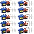 Smraza 10 Pcs SG90 9G Micro Servo Motor Kit for RC Robot Arm Helicopter Airplane Car Boat Control, Arduino Project SG90 Sg90