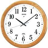 セイコー クロック 掛け時計 電波 アナログ 木枠 天然色木地 KX311B SEIKO