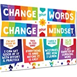 Sproutbrite Growth Mindset Classroom Decorations - Banner Posters for Teachers - Bulletin Board and Wall Decor for Pre School