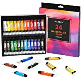 MEEDEN Watercolour Paint Set, 24 Art Watercolours Painting Kit for Artists/Students/Beginners, Rich Pigments/Vibrant/Non Toxi