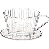 メリタ Melitta コーヒー ドリッパー 日本製 計量スプーン付き プラスチック製 1~2杯用 クリア コーヒーフィ…