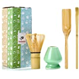 TEANAGOO MA-01 Japanese Matcha Ceremony Accessory, Matcha Whisk (Chasen), Traditional Scoop (Chashaku), Tea Spoon, Whisk Hold