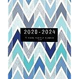 2020-2024 Five Year Planner-Chevron: 60 Months Calendar, 5 Year Monthly Appointment Notebook, Agenda Schedule Organizer Logbo