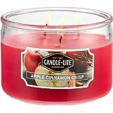 Candle-Lite Everyday Scented Apple Cinnamon Crisp 3-Wick 10oz Medium Glass Jar Candle, Spiced Orchard Fragrance, 10 Oz, 10 oz