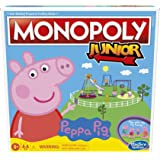 Monopoly Junior: Peppa Pig Edition Board Game for 2-4 Players, Indoor Game For Kids Ages 5 and Up (Amazon Exclusive)