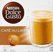 NESCAFÉ Dolce Gusto Cafe Au Lait Coffee Pods, 16 Capsules (16 Serves) 160g