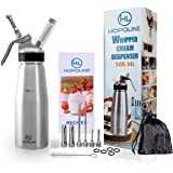 Professional Whipped Cream Dispenser, Durable Aluminum Alloy Whip Cream Dispensers, Whipped Cream Maker Canister, Compatible