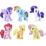 "My LITTLE PONY Meet the Mane 3"" 6 Ponies Collection - Twilight Sparkle, Pinkie Pie, Rainbow Dash, Rarity, Fluttershy, Appleja"