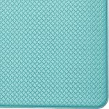 "Color&Geometry Kitchen Rug Non Skid Waterproof Kitchen mats Cushioned Anti Fatigue Standing Mat 80""X18""Cyan"