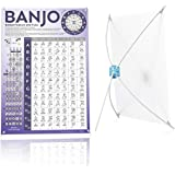 Banjo Chord Chart of Popular Chords | Reference Poster of Banjo for Beginners Adults or Kids, Easy to Read, 11'' x 15'' Banjo