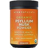 Organic Psyllium Husk Powder (Orange) - Finely Ground Psyllium Fiber Powder for Easy Mixing, Everyday Psyllium Fiber Support,