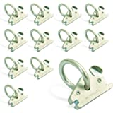 AFA Tooling E Track O Ring Tie Down Anchors 12-Pack - 7.000lbs BS Stainless Steel E Track Tie Downs Accessories - Robust Rust