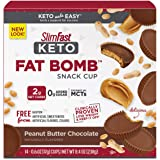 SlimFast Keto Fat Bomb Snacks, Peanut Butter Cup, 17 Grams, 14 Count Box, 8.4 Ounce