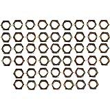 Creative Hobbies ELY233 - Steel Hex Lock Nut Fasteners - Yellow Zinc Coated, Fits 1/8IP Standard Lamp Pipe, Hardware DIY Repa