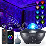 Kapebow Star Projector, Galaxy Star Night Light Projector Working with Smart App & Alexa, 10 Color Music Starry Light Project