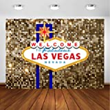 Avezano Las Vegas Party Backdrop for Birthday Decorations Welcome to Las Vegas Fabulous Casino Night Poker Party Photography