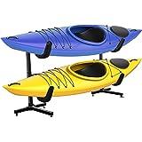RaxGo Freestanding Kayak Rack, Heavy Duty Storage for Two-Kayak, SUP, Canoe & Paddleboard for Indoor, Outdoor, Garage, Shed,