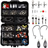 GWHOLE 160 PCS Fishing Accessories Kits Fishing Tackle Kit Box Assorted Fishing Tackle Hooks Fishing Accessories Kit Box