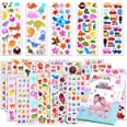 Kids Stickers 1200+, 40 Different Sheets, 3D Puffy Stickers for Kids, Bulk Stickers for Girl Boy Birthday Gift, Scrapbooking,